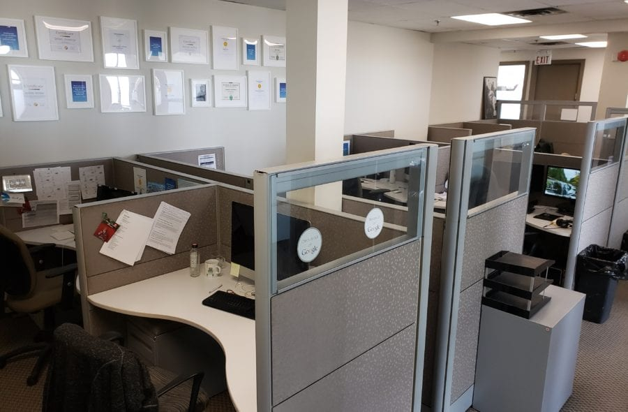 empty office due to covid-19
